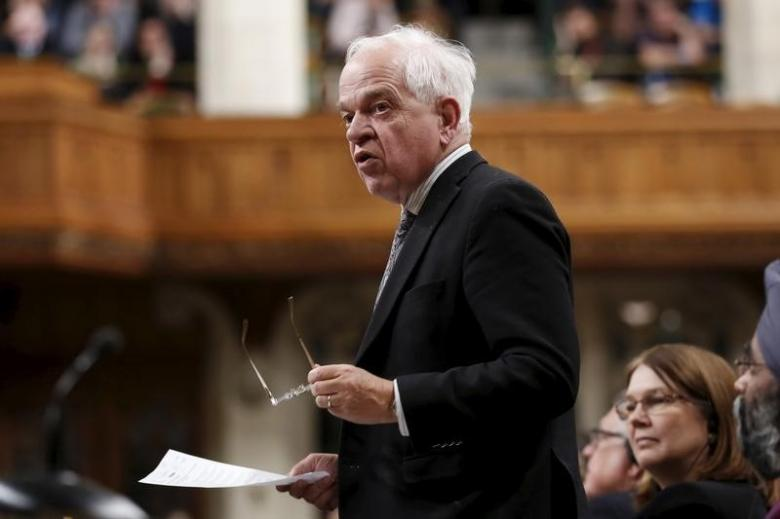 Canada's Immigration Minister John McCallum speaks during Question Period in the House of Commons on Parliament Hill in Ottawa, Canada, January 28, 2016. REUTERS/Chris Wattie